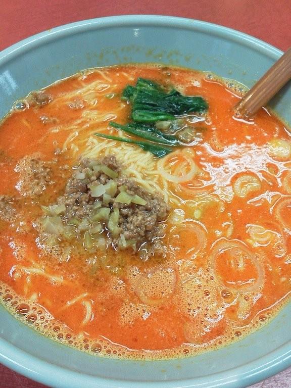 代々木山水楼のタンタン麺でつよぉ~! こいつも辛くて汗が出たアルヨぉ。 【2011年10月31日】