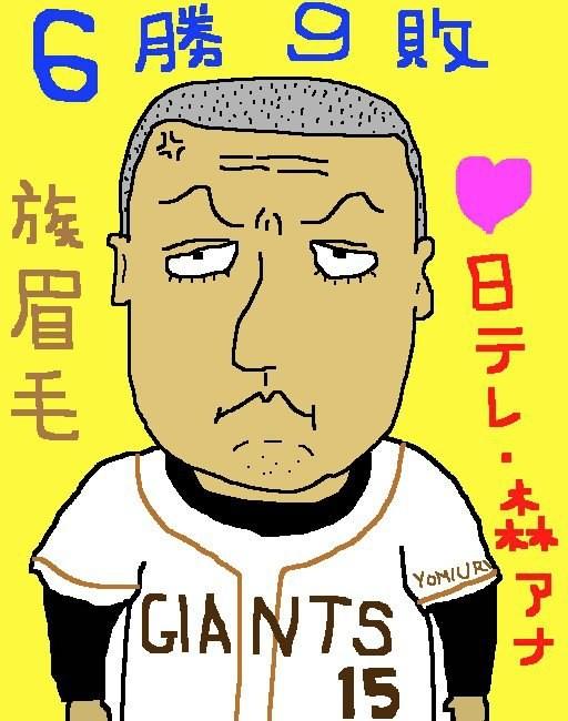 祝・巨人軍連勝、首位まで2ゲーム差記念イラスト  (;´Д`)ハァハァ 【制作日/2011年8月21日】