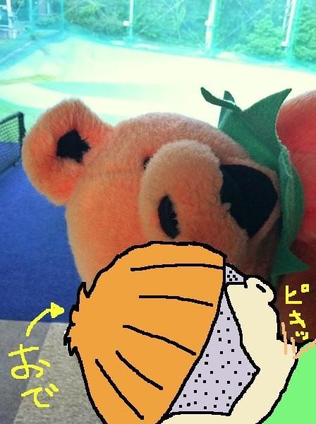 Lisaぽんのクマ~とにらめっこなおで。 【制作日/2012年9月4日】