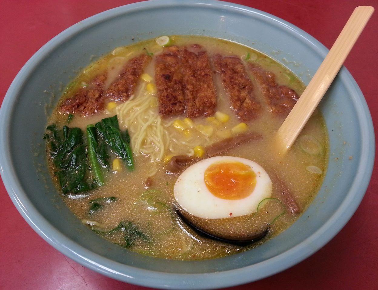 山水麺(パーコーメン)に味噌味があるなんて、知らなかったアルヨ。ポクは醤油味派アルヨ! 【2014年3月17日】