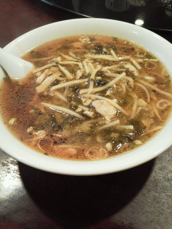 今日の麺は、和平飯店の高菜肉ラーメンですよぉ~!!(^_^)/ 【2011年9月7日】