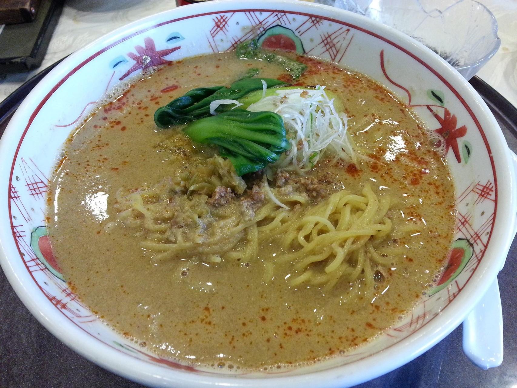 皆川城CC名物、担々麺でつ。 【2014年11月8日】