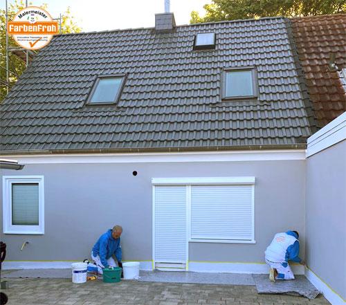 Fassadenarbeiten - nachher