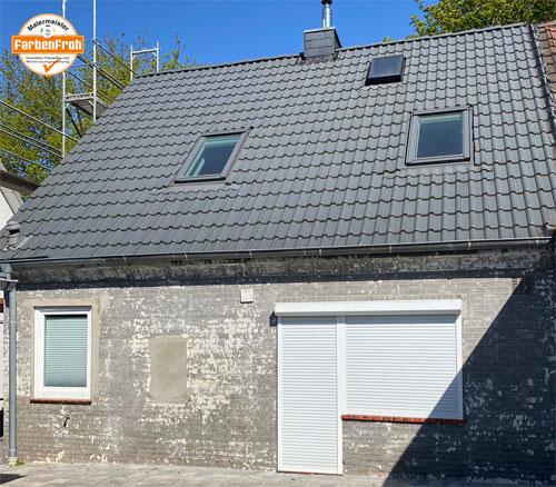 Fassadenarbeiten - vorher