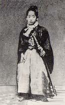 Jugoro Kano, fondatore del Judo, da bambino