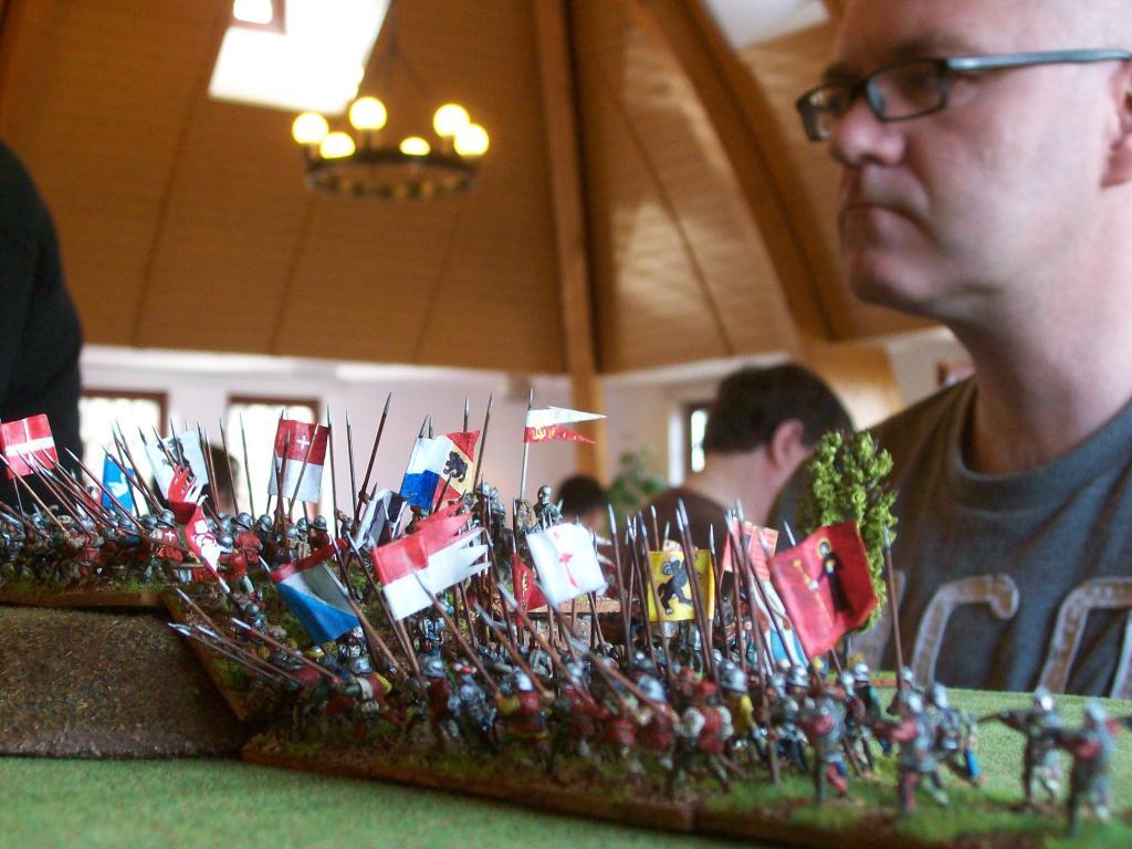 Jean Luc mit seiner Armee, auch er war aus Belgien angereist