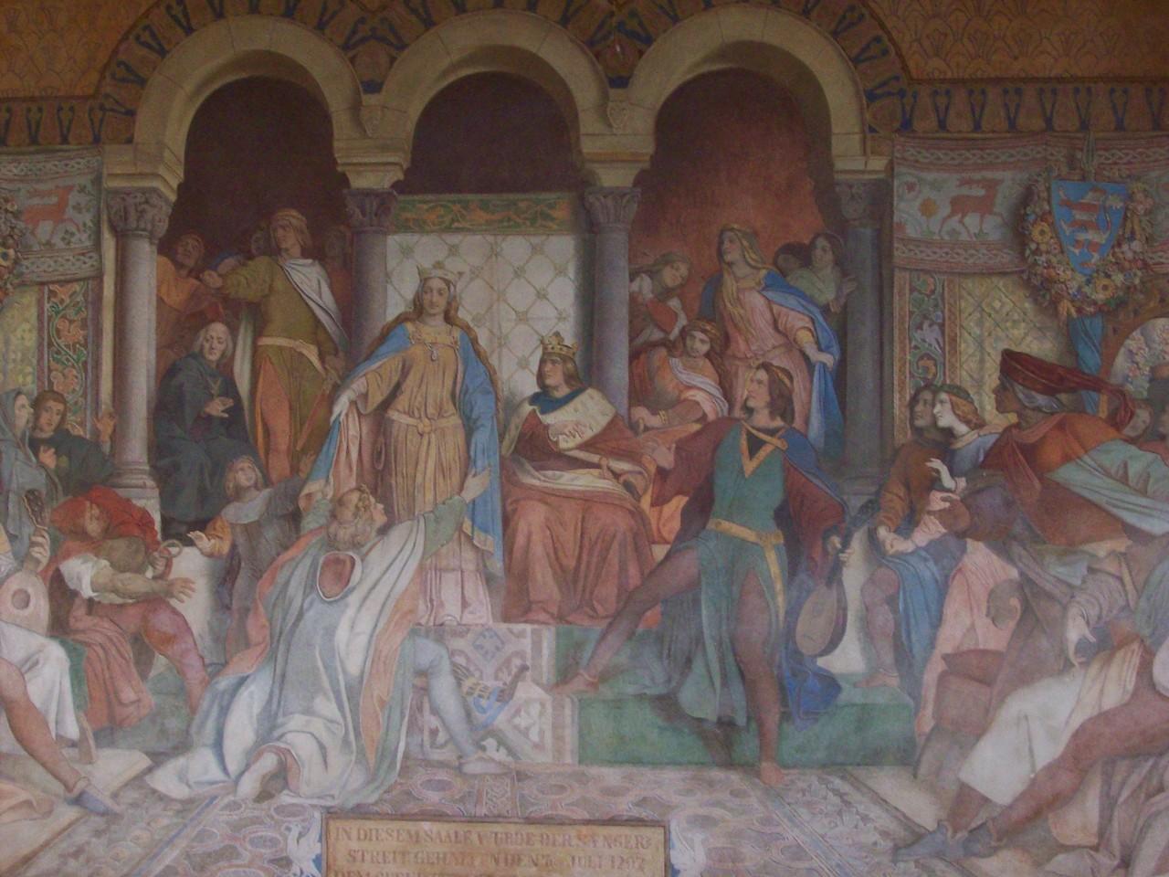 das berühmte Fresko des Sängerkriegs
