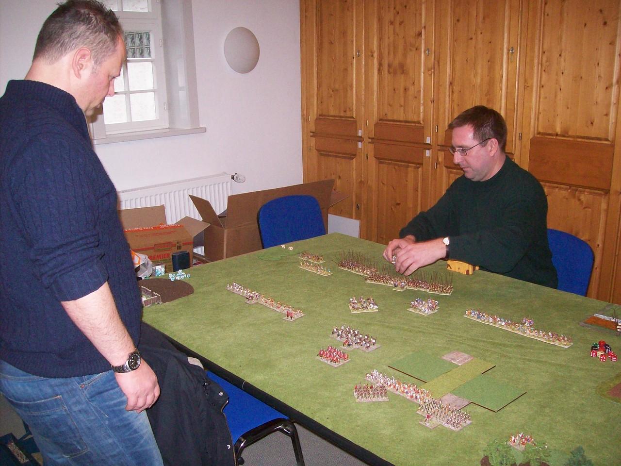 Das Spitzenspiel der letzten Runde: Alexander gegen Ferdi