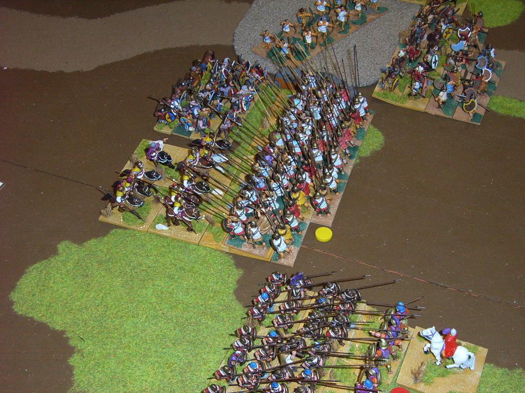 mit vereinten Kräften gegen die Phalanx