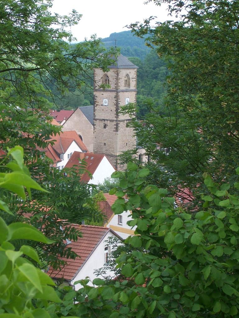 Der Blick auf den Ort Creuzburg