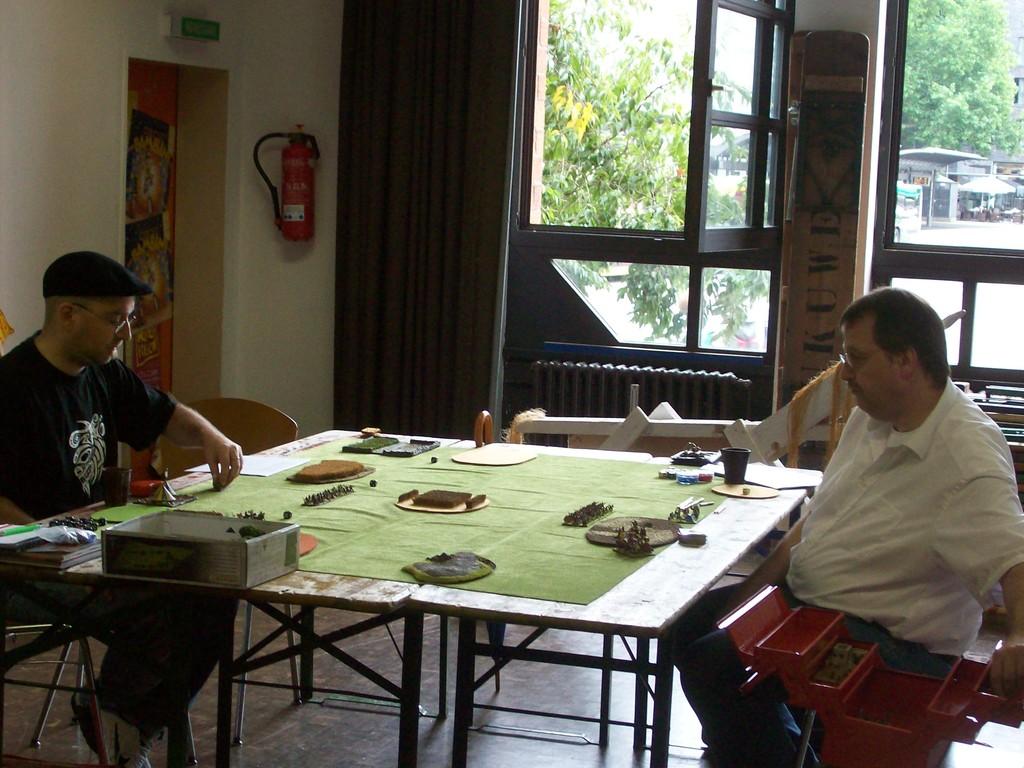 Andreas und Klaus zu Beginn der ersten Runde