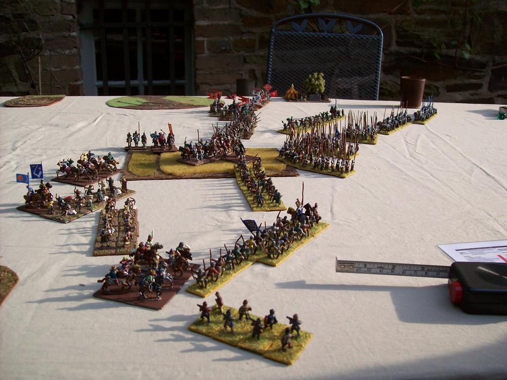 Die linke Flanke der Franzosen hielt den Ungarn erfolgreich stand.
