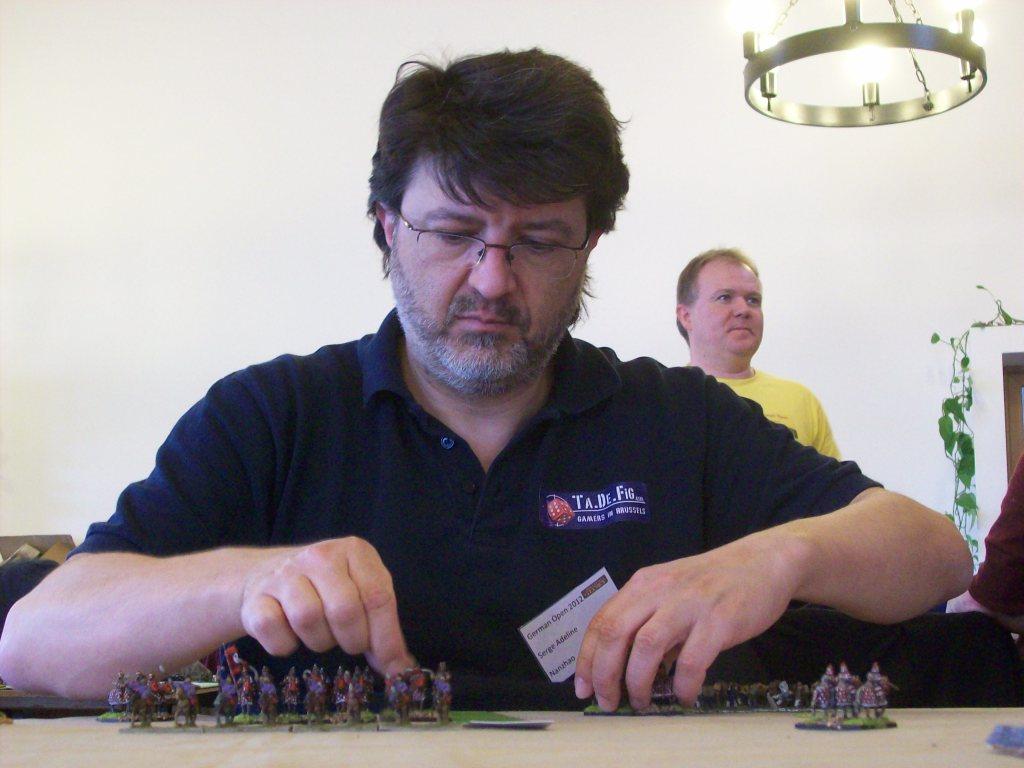 Serge (ebenfalls Belgien) beim Spiel