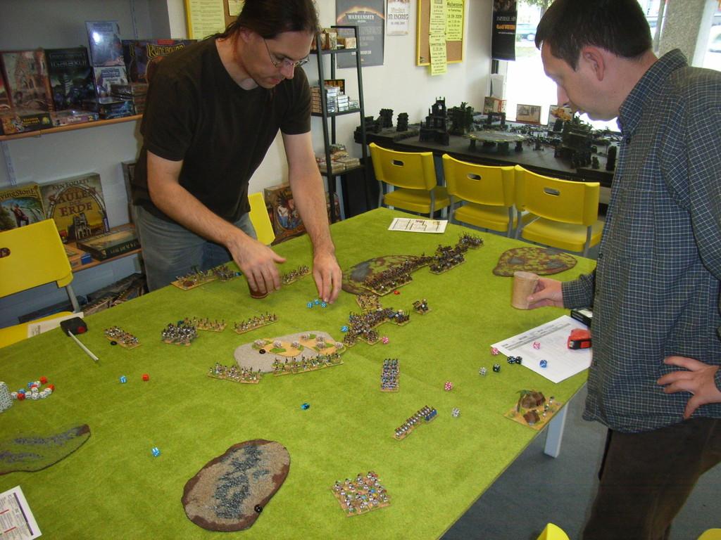 Thomas und Michael beim Spiel
