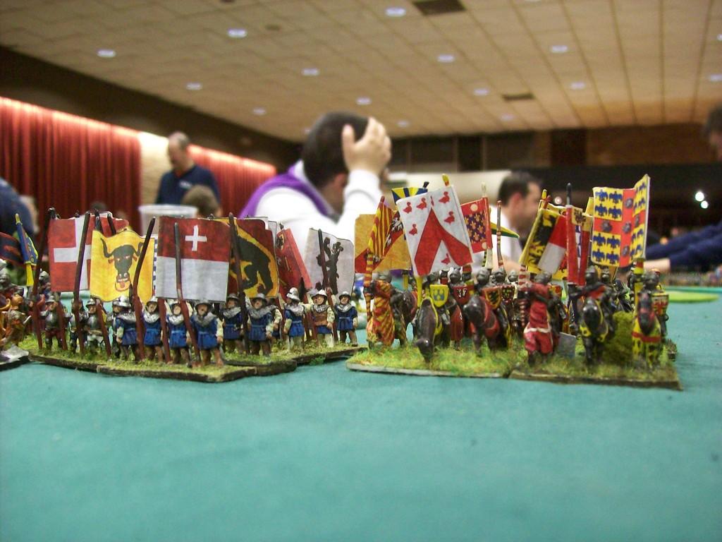im offenen Pool gab es auch mittelalterliche Armeen