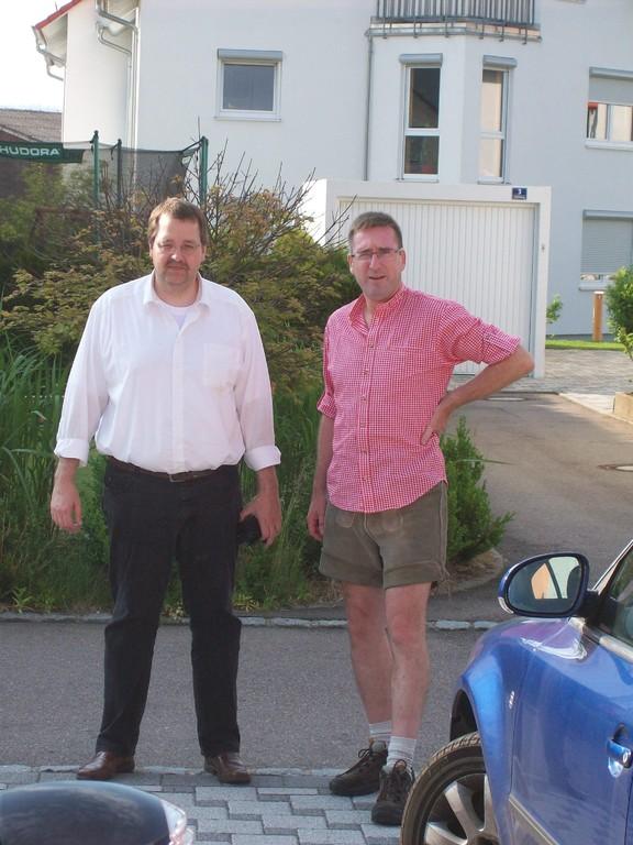 Klaus und Ferdi vor...