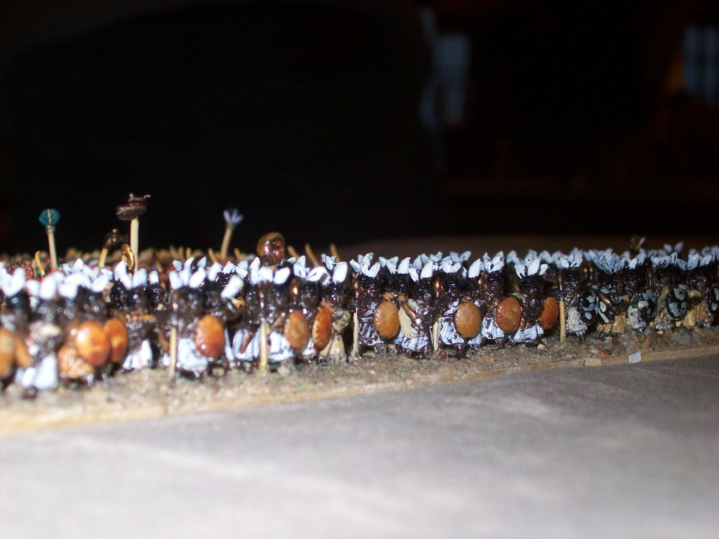Abends gab es noch ein Spiel Warmaster Ancients