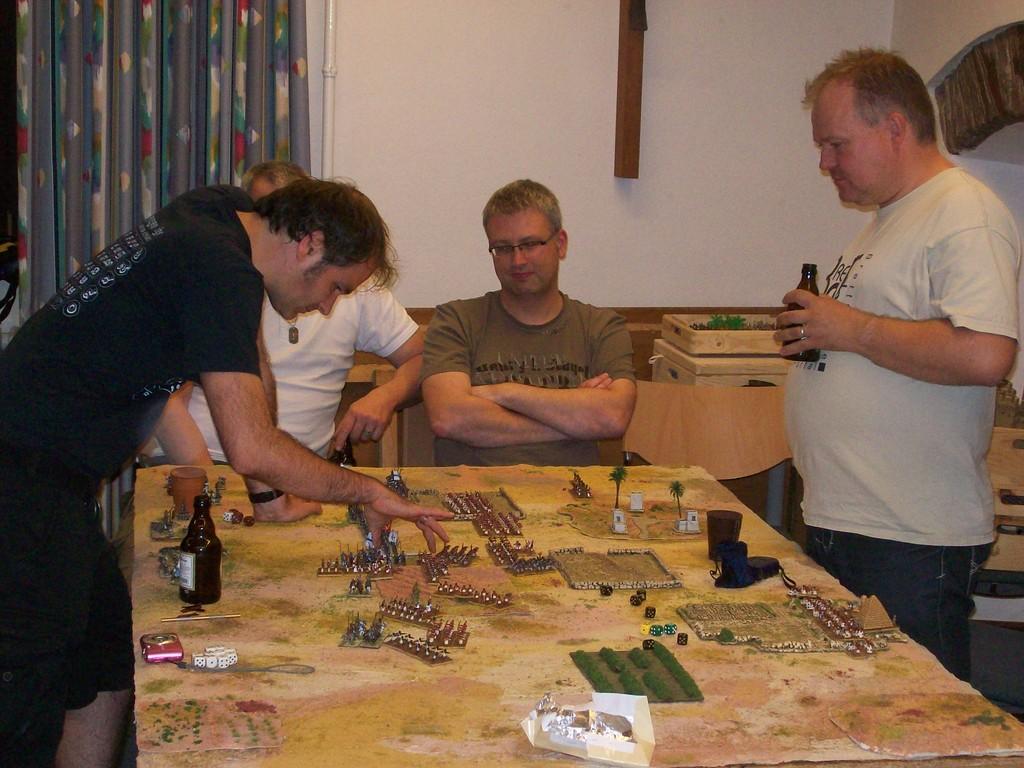 Es gab auch ein reguläres Abendspiel zwischen Frank und Martin...