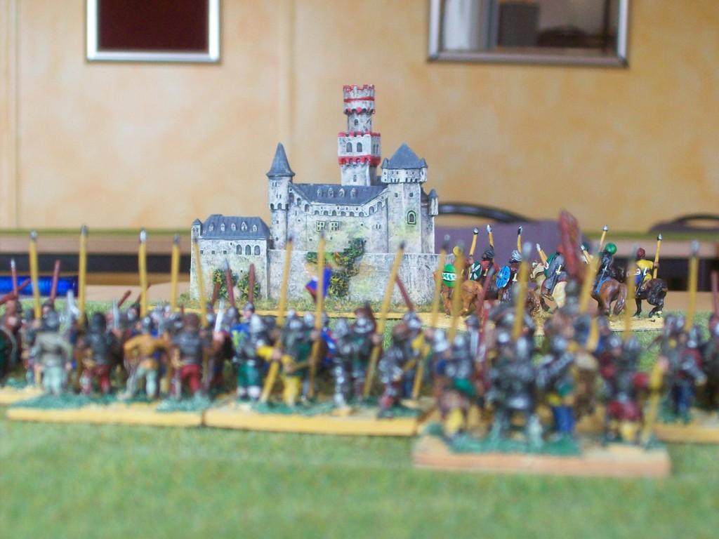 Die Kreuzfahrer nähern sich der Burg der Imperial German