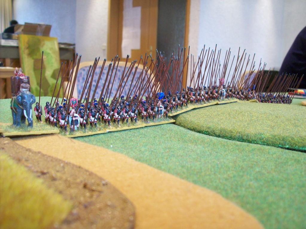 auf der Gegenseite Lysimachos' Phalangen