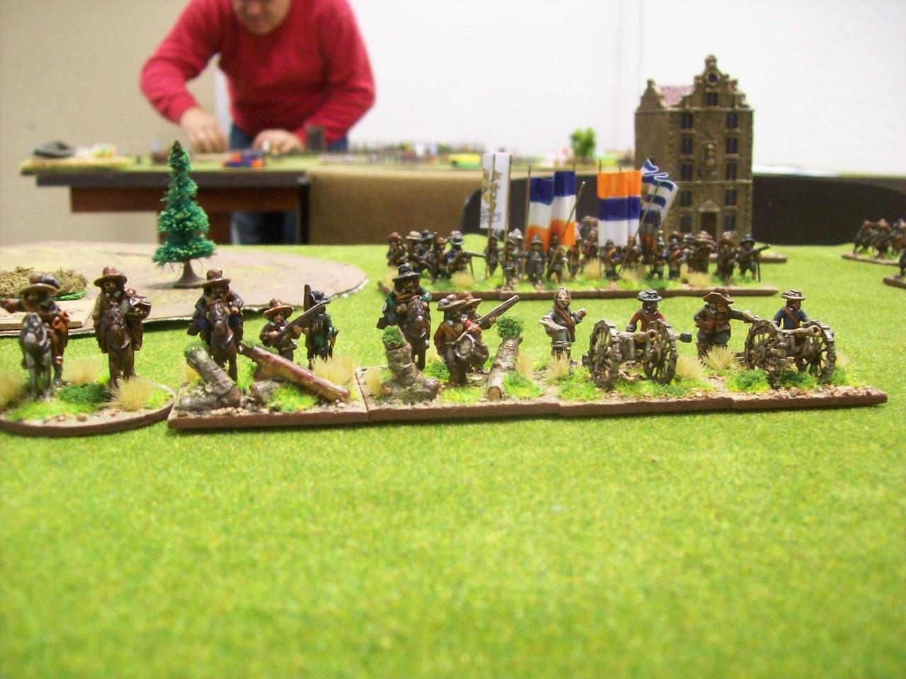 Holländische Dragoner und Artillerie - neumodischer Quatsch, den meine Armee nicht benötigte ;-)