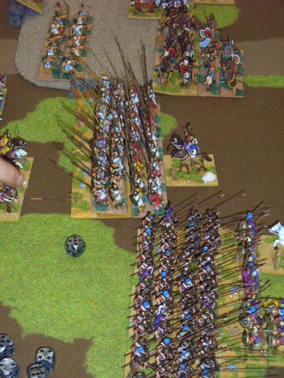 die griechischen Truppen treffen aufeinander