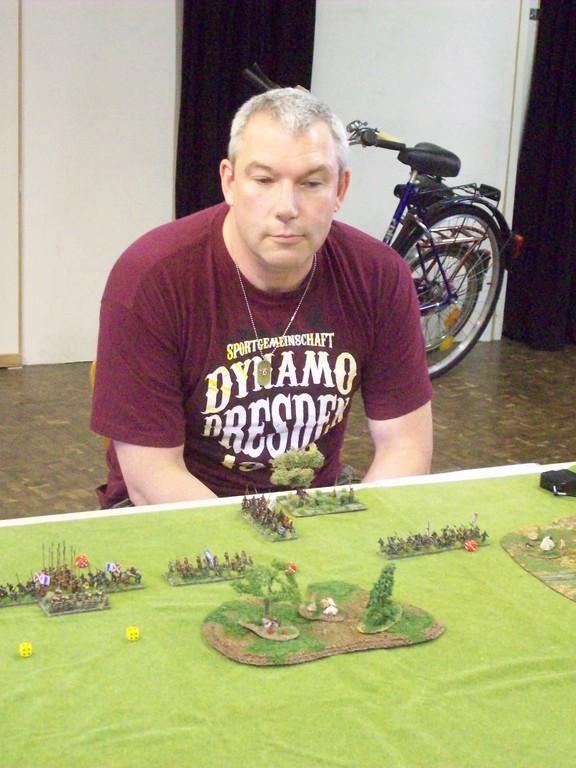 Olaf nahm mit Engländern am Turnier teil,