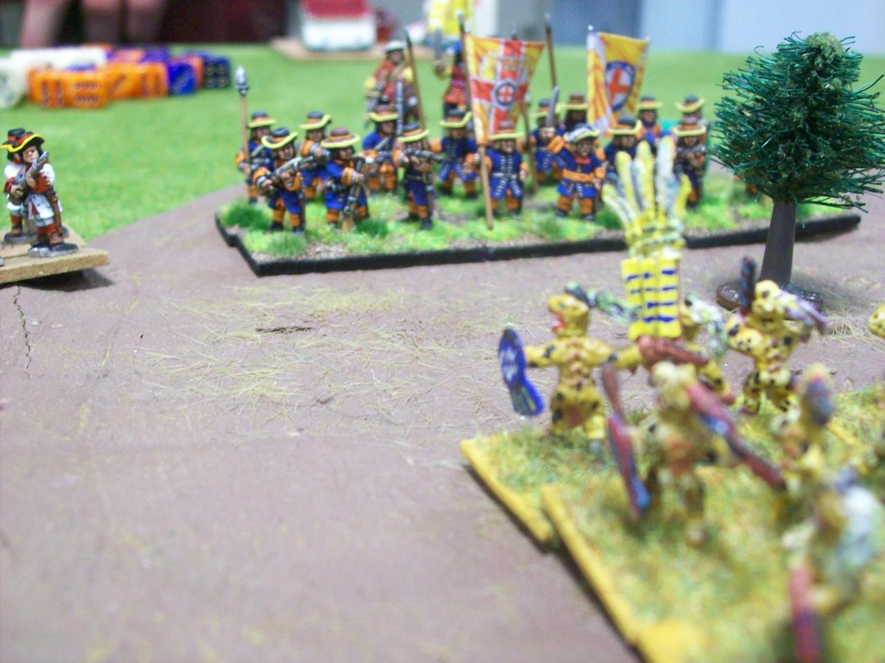 meine Azteken nähern sich den europäischen Linien
