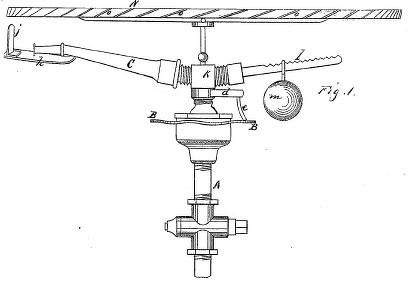 1872.Primera patente de un aspersor. J.Gibson. San Francisco.