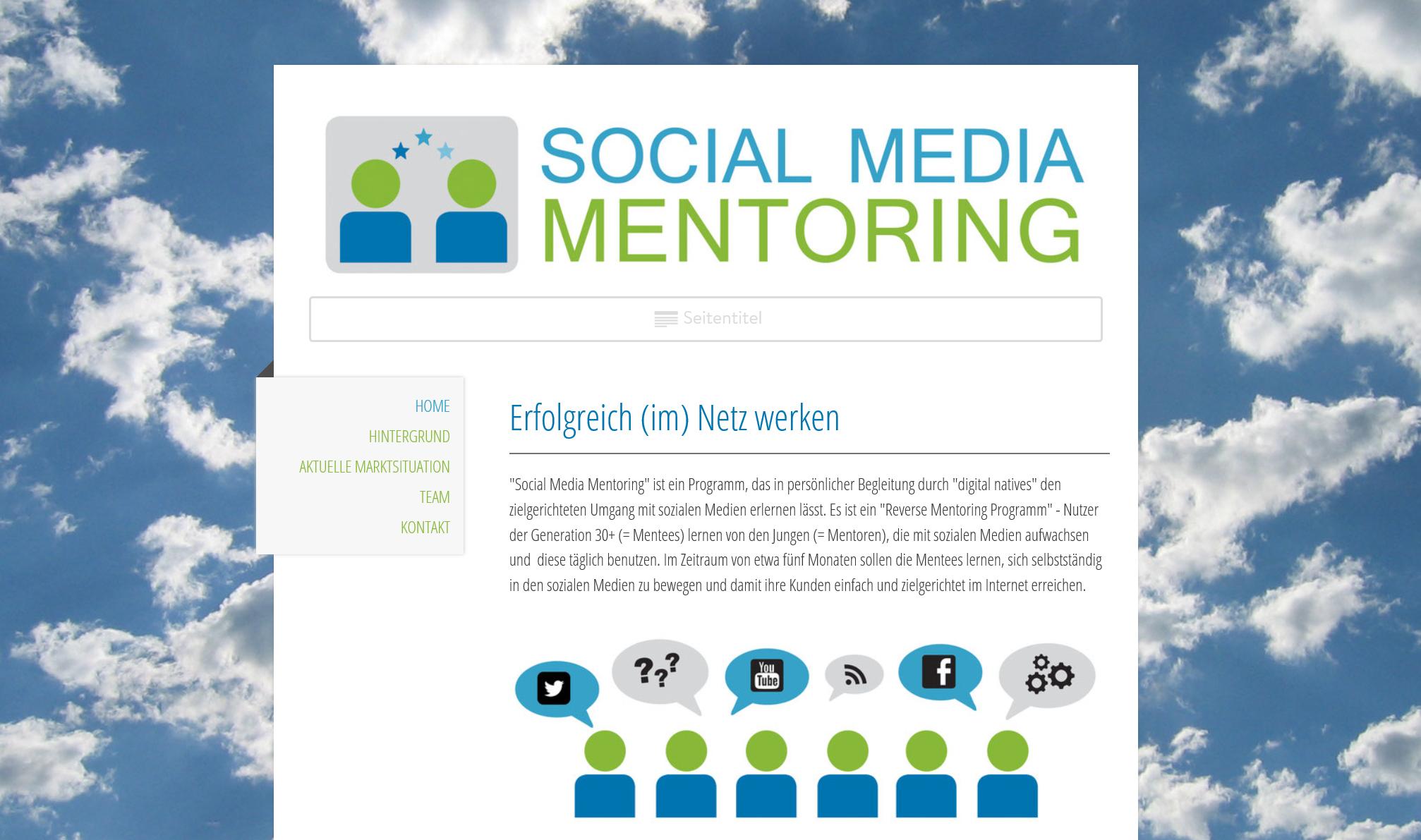 Social-Media-Mentoring: Web-Design