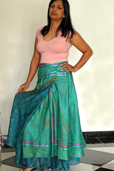 longue turquoise et ruban