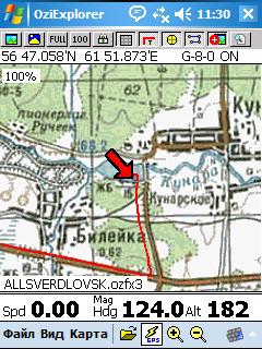 трек немного не совпал с дорогой. Результат применения разных систем координат на карте (pulkovo 1941) и данных со спутников wgs84)