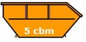 5 cbm Absetzcontainer