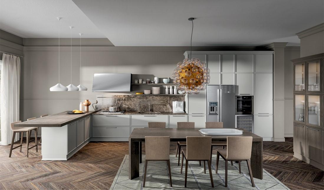 Cucina con penisola modello Estetica