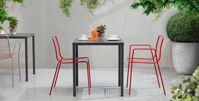 Seduta Summer e tavolo Timo antracite