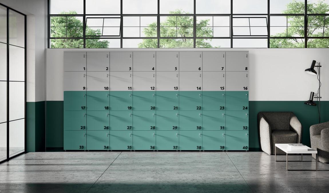 Armadio casellario con chiavi e numeri personalizzabile