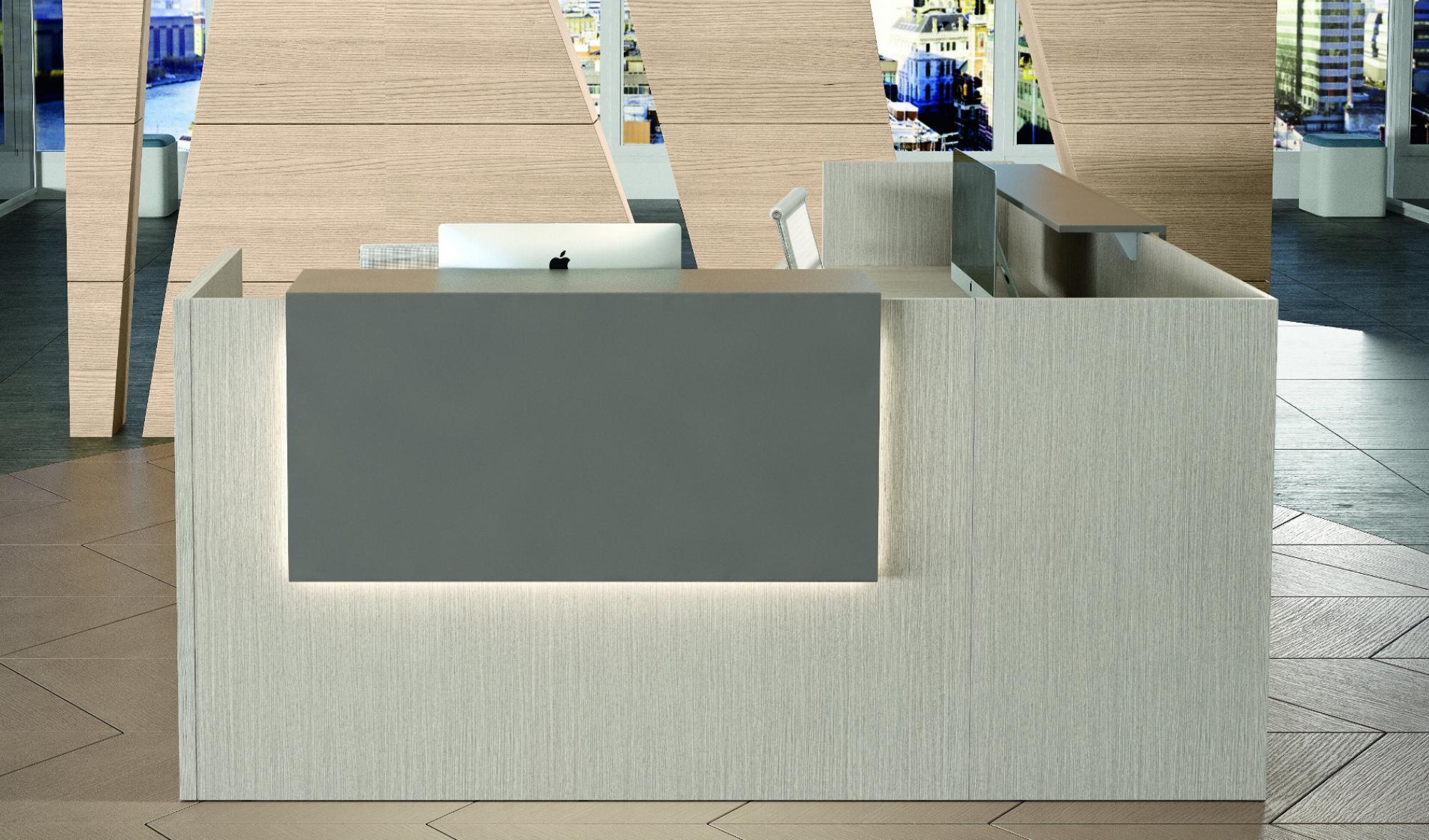 Reception ad angolo modello Color con led