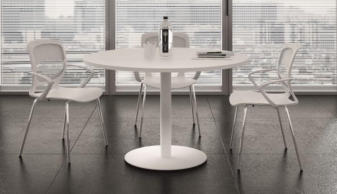 Tavolo riunione con gambone cilindrico