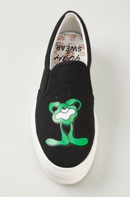 YOSH X SWEAR Black Canvas Green Print