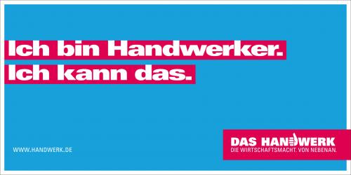 Bis heute auf Aufklebern, Notizblöcken, Briefmarken...: Mein Spruch für das deutsche Handwerk