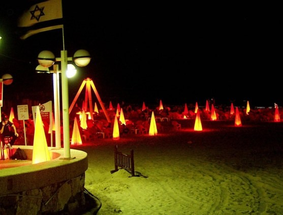 """Rolf Schimmermann"". Tel Aviv Beach Night / January 2014"