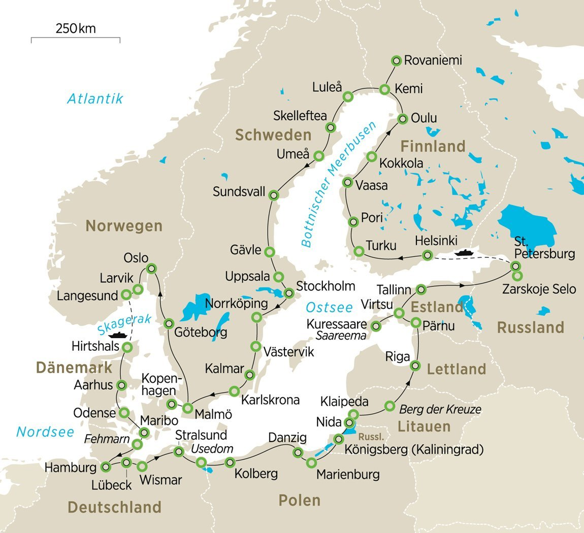 ZEIT-Reise 2021: Mit dem Bus rund um die Ostsee