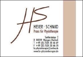 TTF 81 Schomburg e.V. Sponsor Heier & Schmid Physiotherapie, Haslach