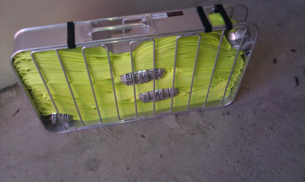 C-Schlauchtragekorb mit 3 C-Druckschläuchen ZIEGLER LEUCHTGELB/ 4x verladen