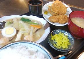 日替わり定食 五目うま煮と串揚げ