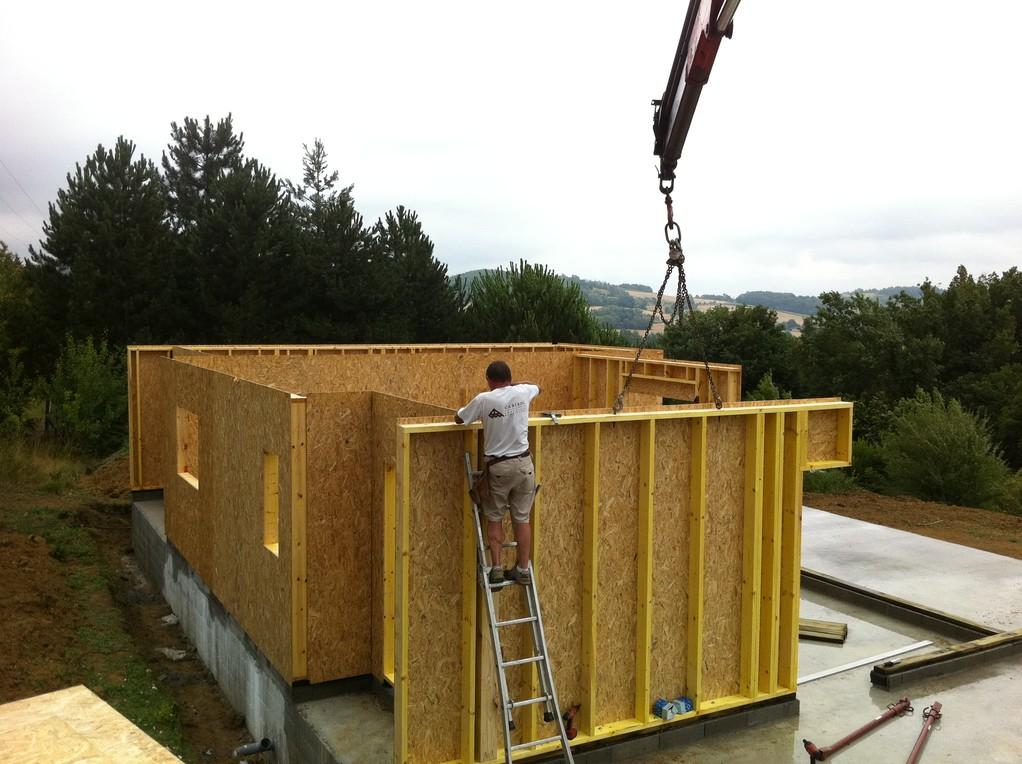 Photos Reportage  Cabirol charpentier 47 construction maison ossature bois A