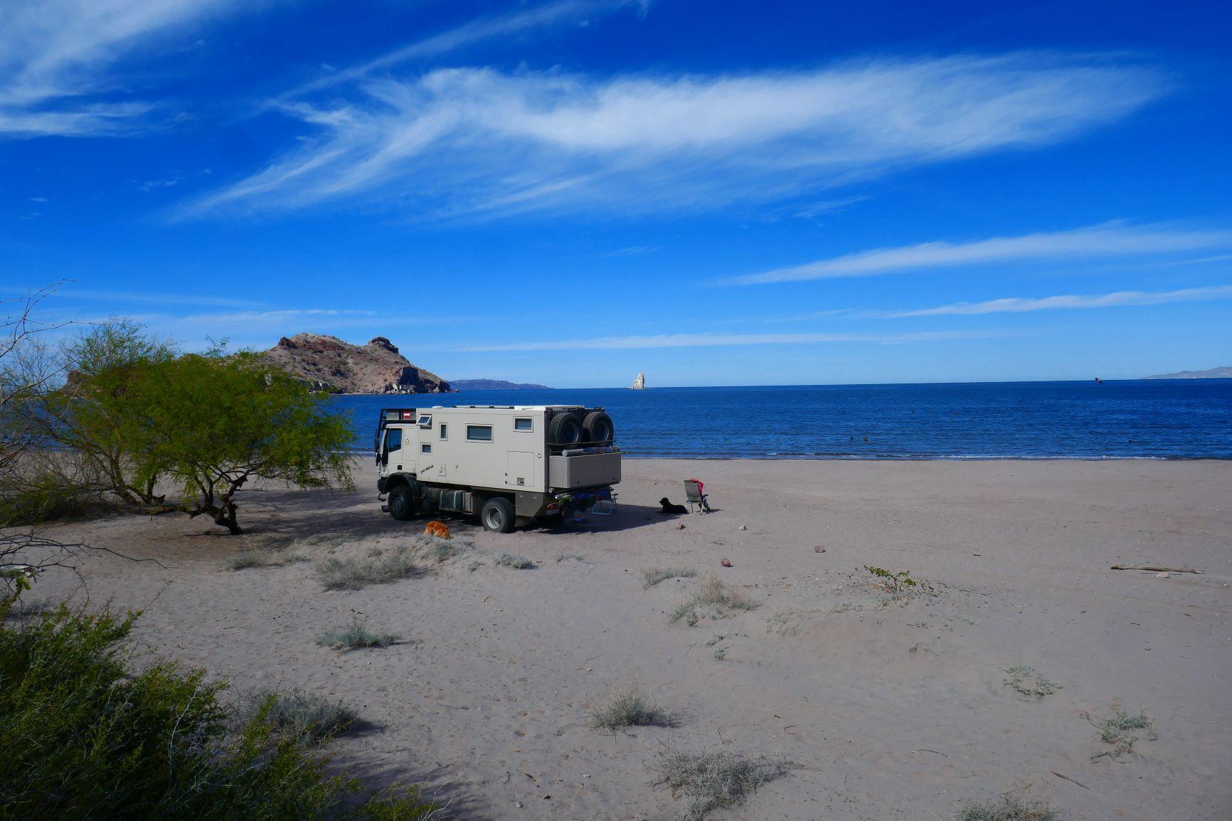 Schlafplatz in der Bucht von Agua Verde
