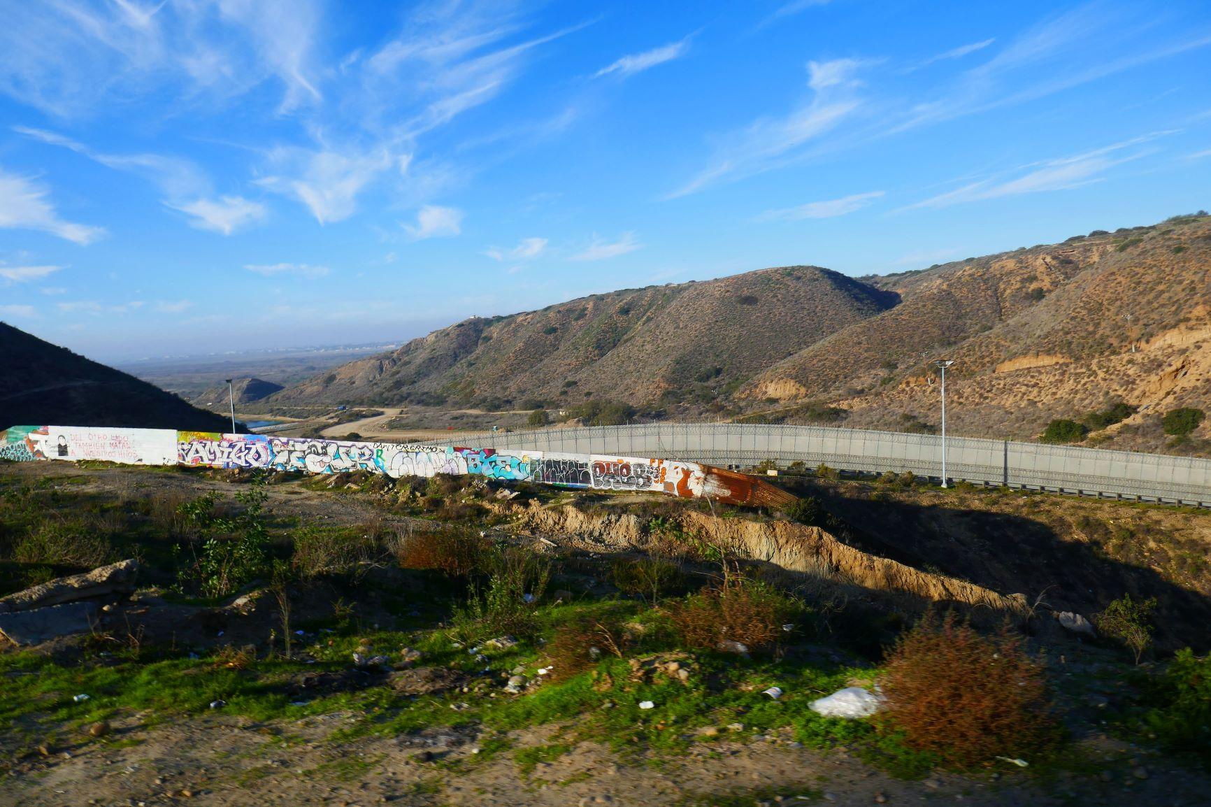 Grenze mit Blick nach San Diego