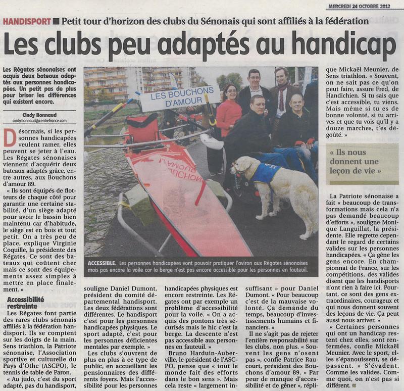 L'Yonne républicaine du 24 octobre 2012