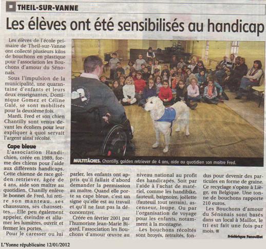 L'Yonne républicaine du 12 janvier 2012